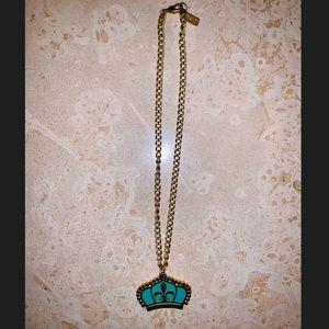 Fleur De Lis Crown reversible necklace